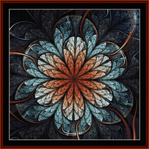 fractal 677 cross stitch pattern by cross stitch collectibles