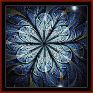 fractal 679 cross stitch pattern by cross stitch collectibles