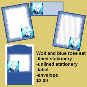 Wolf and blue rose set | Other Files | Graphics