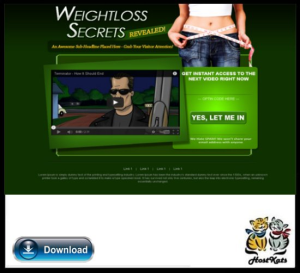 Weight Loss WordPress Video Squeeze Page | Software | Design Templates