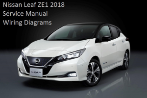 nissan leaf ze1 2018 service manual wiring diagrams