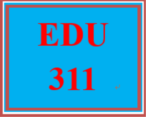 edu 311 week 2 lesson plan components table