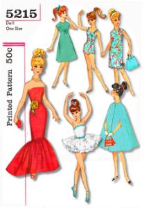 barbie doll clothes pdf # 5215 mermaid gown  tutu swim suit dresses cape