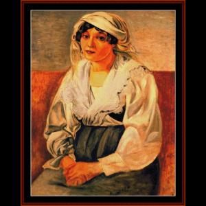 italian girl - derain cross stitch pattern by cross stitch collectibles