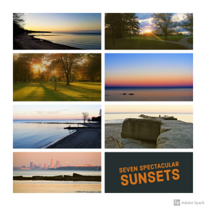 seven spectacular sunsets - royalty free!