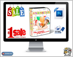 kids birthday party html psd template