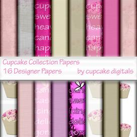 Cupcakes Designer Papers Collection