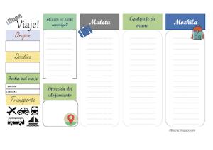 Organizador de viajes | Documents and Forms | Other Forms