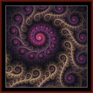 fractal 684 cross stitch pattern by cross stitch collectibles