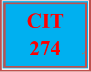 cit 274 entire course