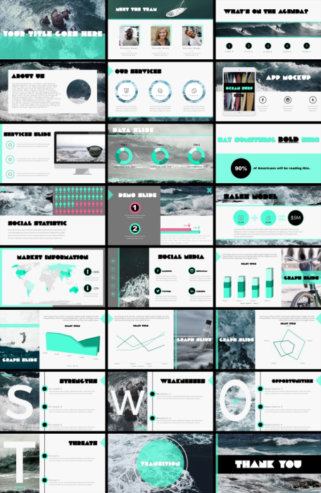 First Additional product image for - Ocean Theme PowerPoint Presentation Template