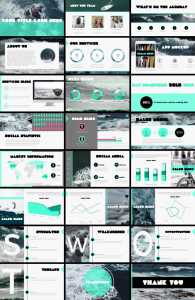 ocean theme powerpoint presentation template