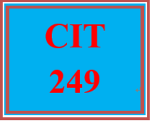 cit 249 week 1 individual: static and dynamic routing