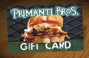 primanti bros $50 gift card