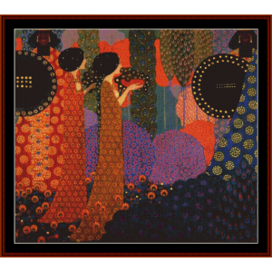 a thousand and one nights - vittorio zecchin cross stitch pattern by cross stitch collectibles