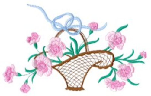 First Additional product image for - Carnations Embroidery Collection PES