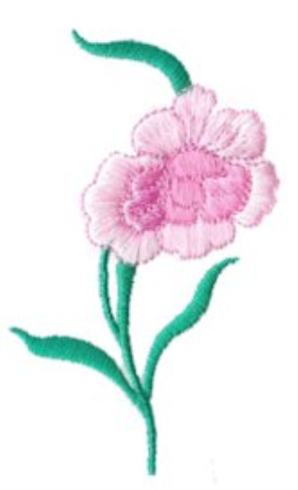 Second Additional product image for - Carnations Embroidery Collection PES