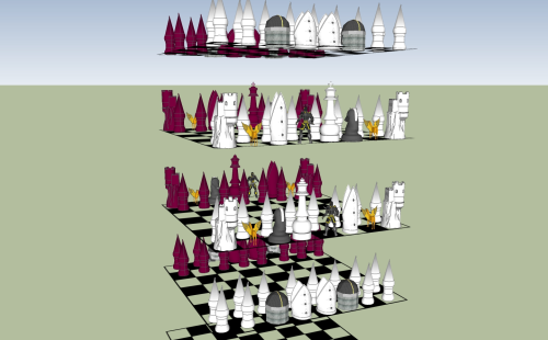 Third Additional product image for - Digital Cube Chess Set