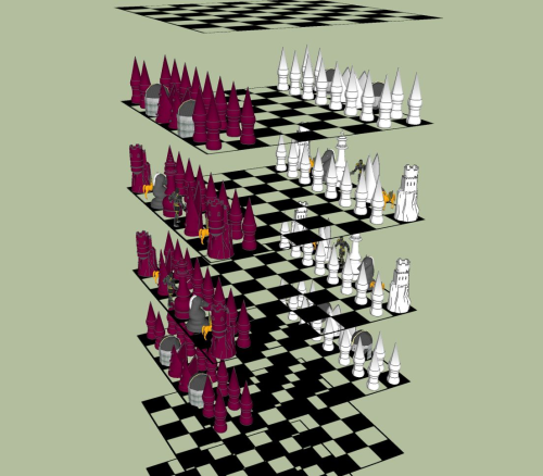 Fourth Additional product image for - Digital Cube Chess Set