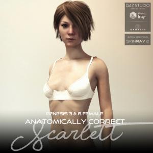 anatomically correct: scarlett for genesis 3 and genesis 8 female