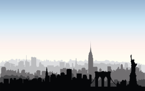 nyc city silhouette