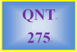 qnt 275 week 3 assignment week 3