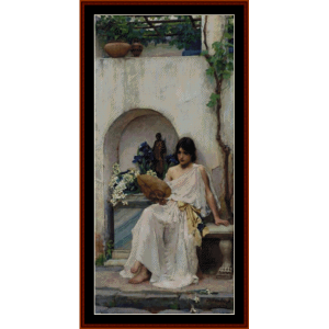 flora - waterhouse cross stitch pattern by cross stitch collectibles