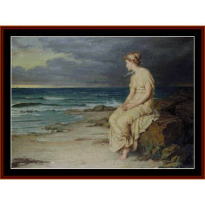 miranda, 1875 - waterhouse cross stitch pattern by cross stitch collectibles