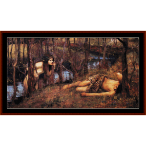 the naiad - waterhouse cross stitch pattern by cross stitch collectibles
