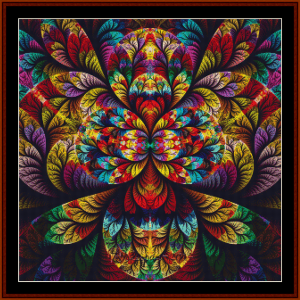 fractal 685 cross stitch pattern by cross stitch collectibles