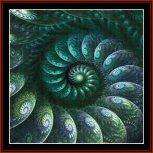 fractal 687 cross stitch pattern by cross stitch collectible