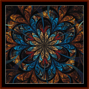 fractal 689 cross stitch pattern by cross stitch collectible