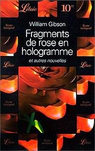 fragments of a hologram rose