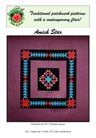 Amish Star pieced quilt pattern | Crafting | Sewing | Quilting