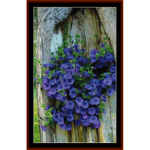 morning glories - nature cross stitch pattern by cross stitch collectibles
