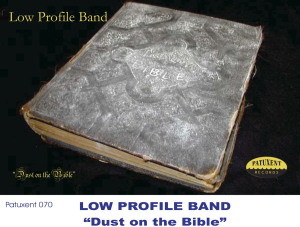 Patuxent CD-070 Low Profile Band - Dust on the Bible | Music | Country