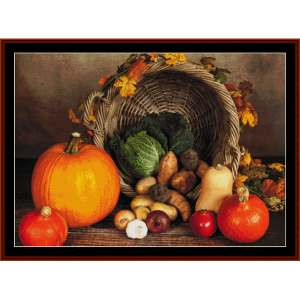 autumn harvest - autumn cross stitch pattern by cross stitch collectibles