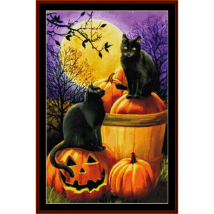halloween night - fantasy cross stitch pattern by cross stitch collectibles
