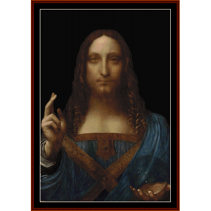 salvador mundi - davinci cross stitch pattern by cross stitch collectibles