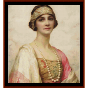 an elegant beauty  w.c.. wontner cross stitch pattern by cross stitch collectibles