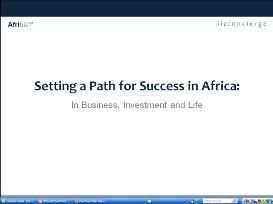 Setting a Path for Success in Africa:  Preparing for the Journey