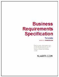 Business Requirements Template | Software | Software Templates
