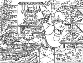 The Baker hidden picture | Other Files | Arts and Crafts