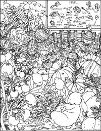 Gorging in the Garden hidden picture | Other Files | Arts and Crafts