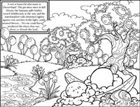 Dessertland coloring page 1 | Other Files | Arts and Crafts