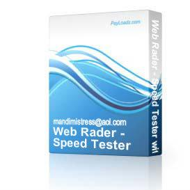 Web Rader - Speed Tester with RESELL Rights! | Software | Internet