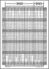 Apr12-Mar13: April-March Calendar, Fiscal Year, & Academic Year Calend | Other Files | Documents and Forms