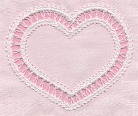 Insertion Lace Heart Single #1 | Other Files | Arts and Crafts