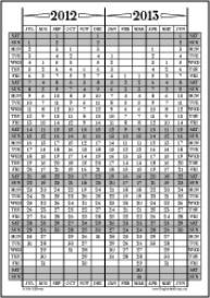 Jul12-Jun13: July-June Calendar, Fiscal Year, & Academic Year Calendar | Other Files | Documents and Forms