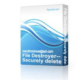 File Destroyer--Securely delete files from your computer + RESELL Righ | Software | Home and Desktop
